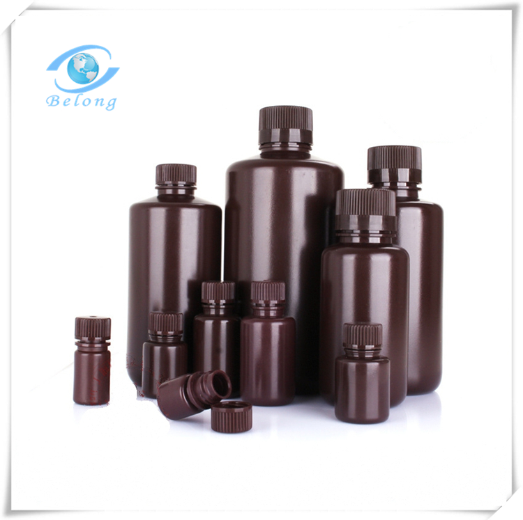 laboratory amber brown 100 ml plastic bottle with a dropper for wholesale