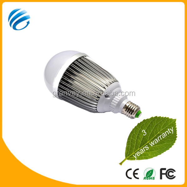 2014 new products Aluminum energy saving lamp, CE ROHS led light,3 years warranty led warm yellow light bulb 15w