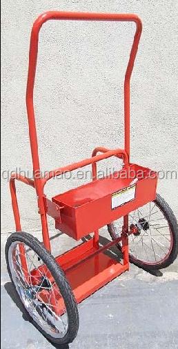 FREE Premium Gloves Red Steel Welding Cart Hauls Welding Tanks Torch Equipment
