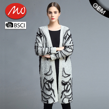 Knitted Patterns Aztec Cardigan Women Sweaters Winter For Wholesale