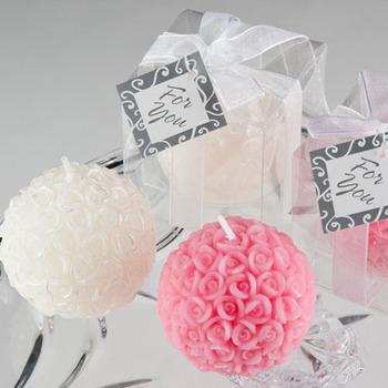 Candele Bomboniere Matrimonio.Elegante Bianco E Rosa E Rosso Rosa Palla Bomboniere Candele Buy