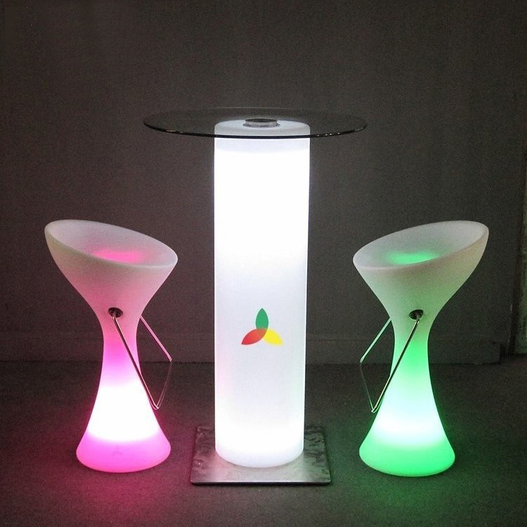 led night club table glowing bar furniture illuminated Bar table
