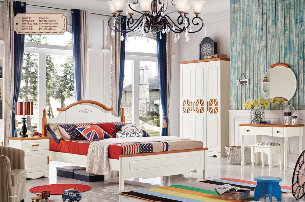 chico nuevo diseo muebles de los nios de madera diseos cama doble con escritorio y