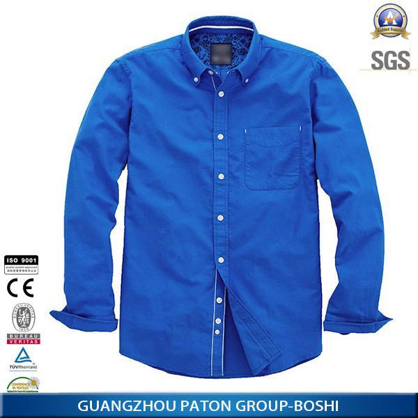 Various Color Men's Solid Cotton New Model Oxford Casual Shirt For Men