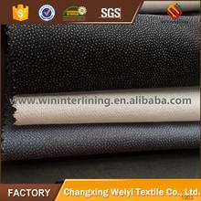 Best quality twill weave woven fusible interlining 2016