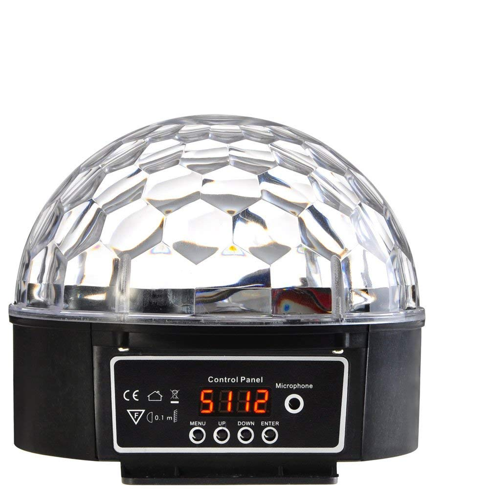 Voice Activated Crystal Light Magic Ball LED DJ Disco Party Stage Lighting