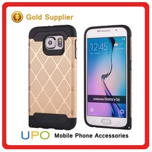 [UPO] Drop resistance dual layer flexible Silicon bumper Slim armor Hard plastic back Hybrid phone case for samsung galaxy s6