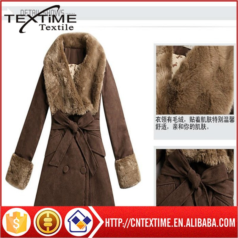 100% polyester Garments Fabric of fake leather