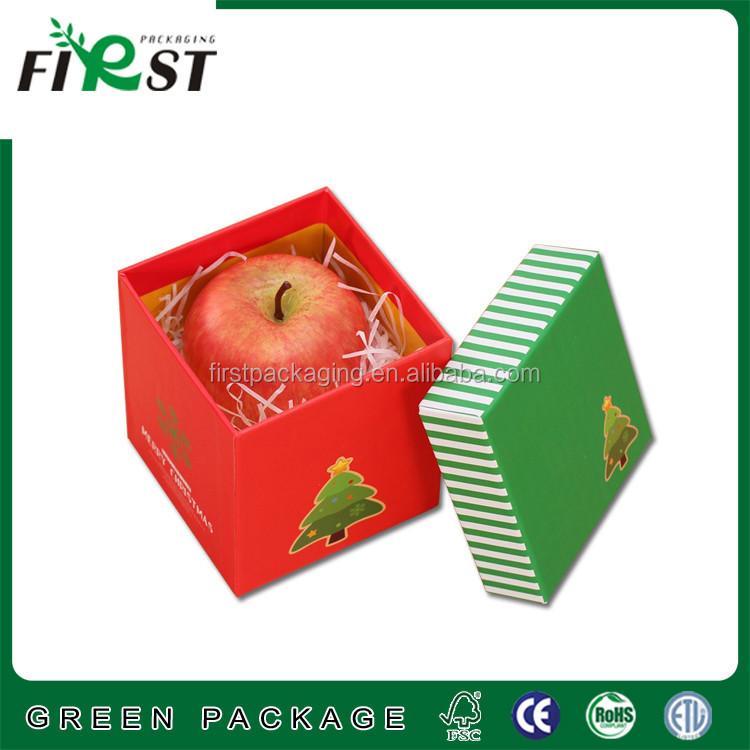 Oem Printed Christmas Apple Fruit Packaging Box Apple Packaging ...