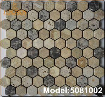 Mozaiek Tegels Tuin.Tuin Decoratie Ongepolijste Blauw Rivier Kiezel Mozaiek Tegel Buy