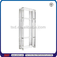 TSD-A1078 clear acrylic book display case/plexiglass book display case/plastic book display rack