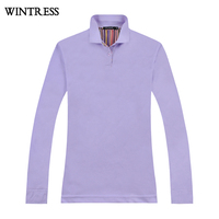 Wintress Cheap wholesale price shirt women polo long sleeve ,white polo shirt manufacturer