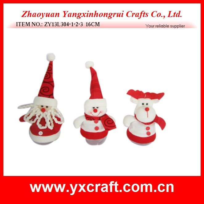 Christmas candy jar (ZY13L304-1-2-3 16CM) wholesale christmas craft supplies