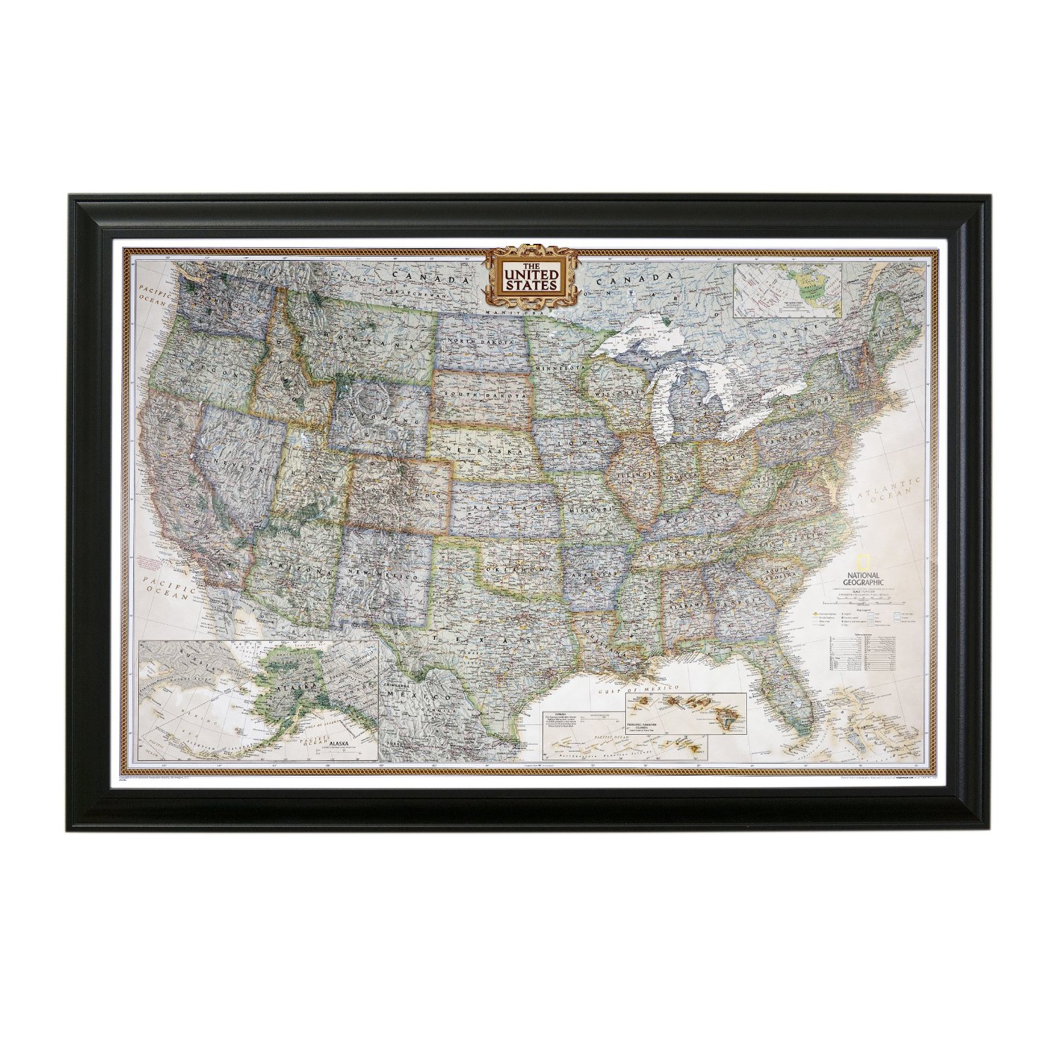Cheap map black find map black deals on line at alibaba get quotations executive us push pin travel map with black frame and pins 24 x 36 gumiabroncs Gallery
