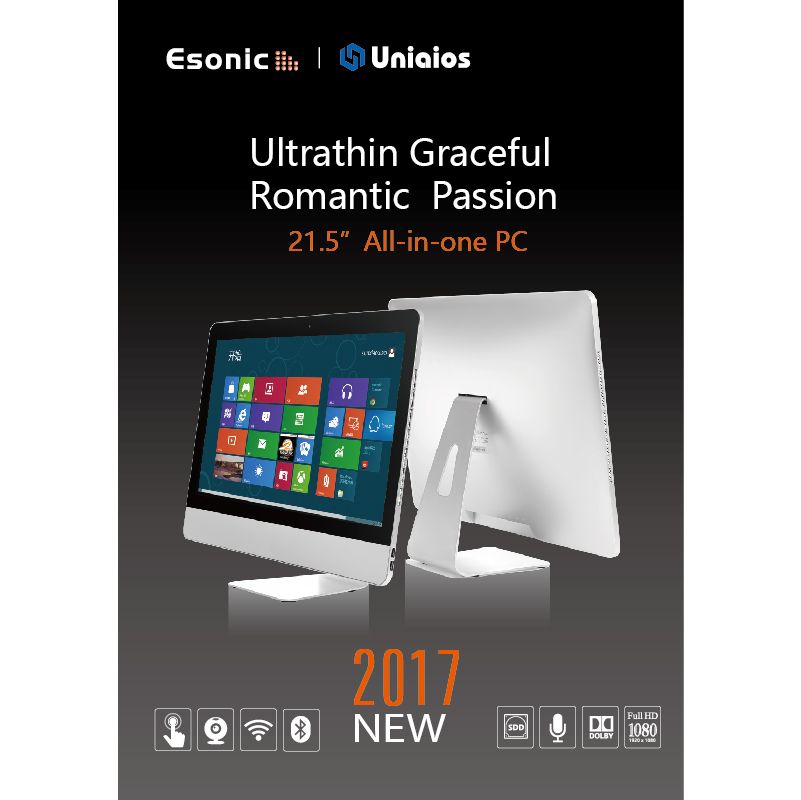 "2017 hot selling 19.5"" All-in-one desktop with Intel Core 2 Duo E7400 CPU"