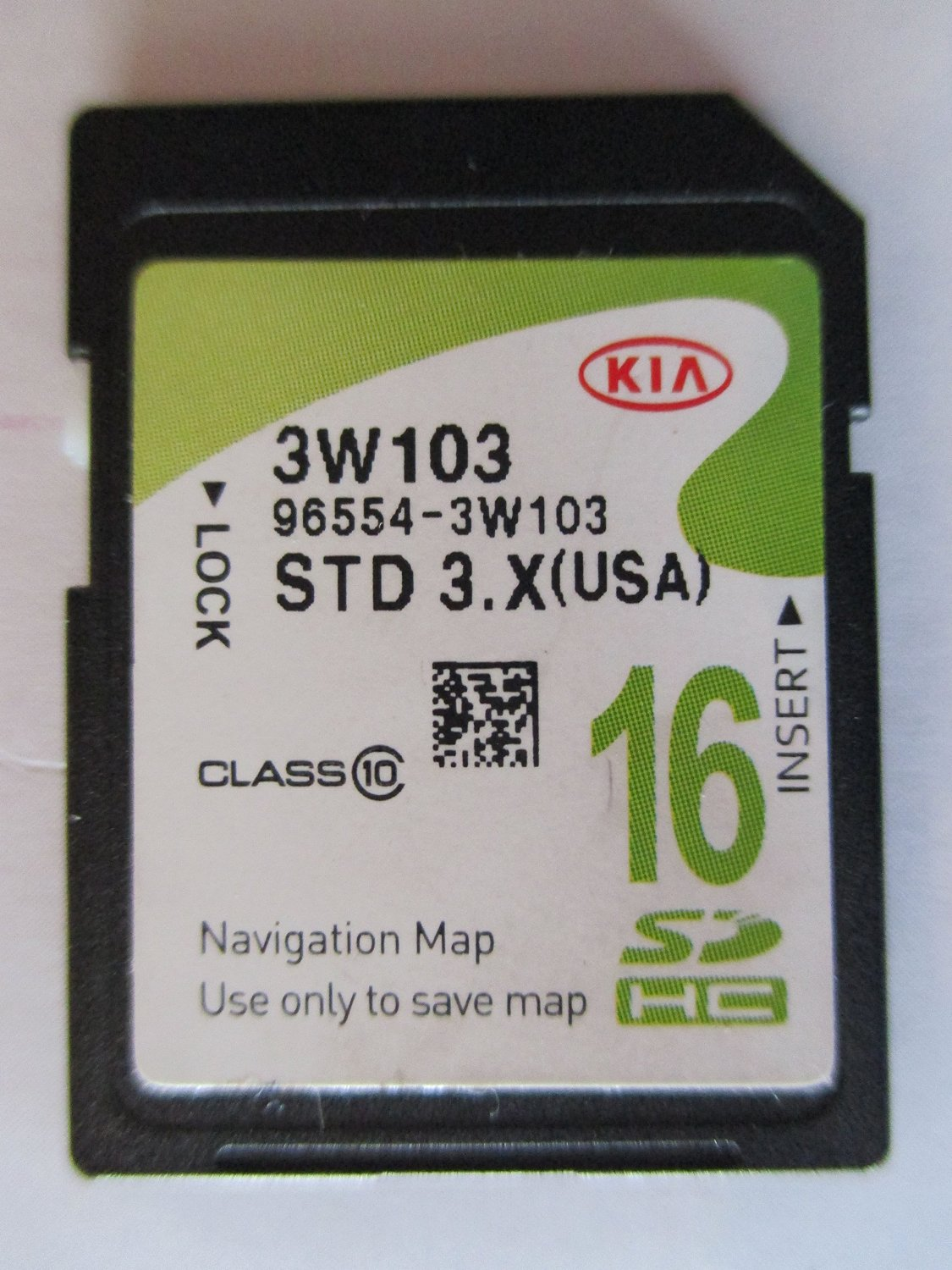 3W103 2014 2015 2016 KIA SPORTAGE Navigation MAP Sd Card ,GPS UPDATE , U.S.A OEM PART # 96554-3W103 3.X 16GB