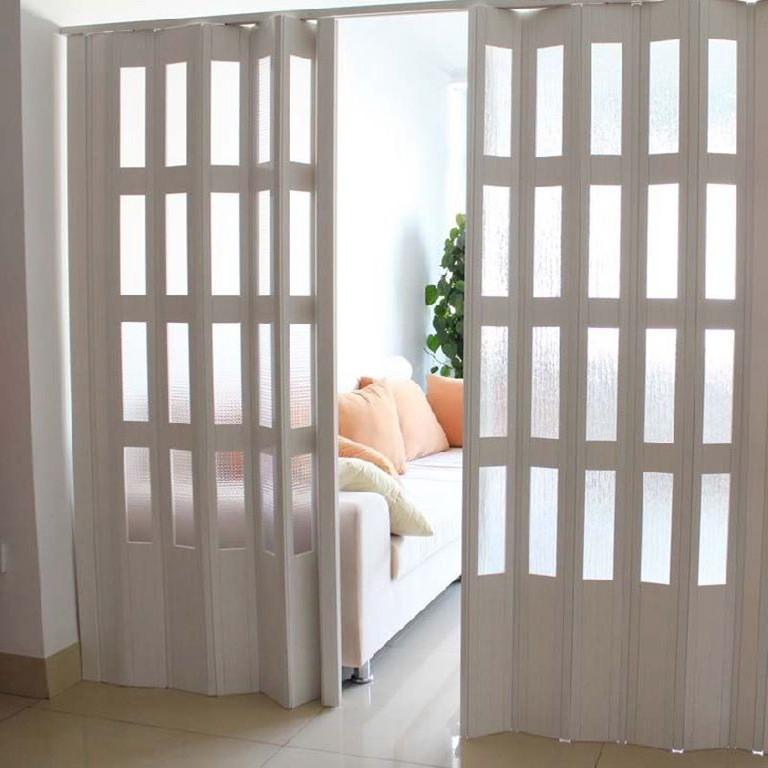 Pvc puerta de plegadora acordeon de pl stico puerta - Puerta de acordeon ...