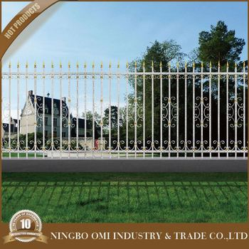 Cheap Decorative Wrought Iron Fence Designs Used Metal