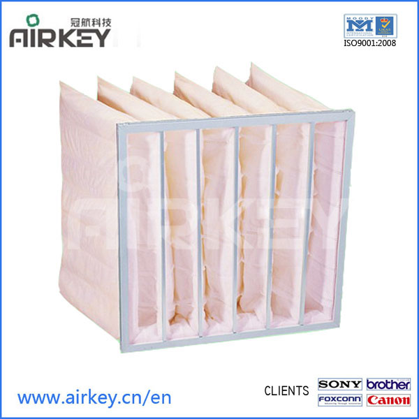 High humidity F7 pocket medium air filter in china