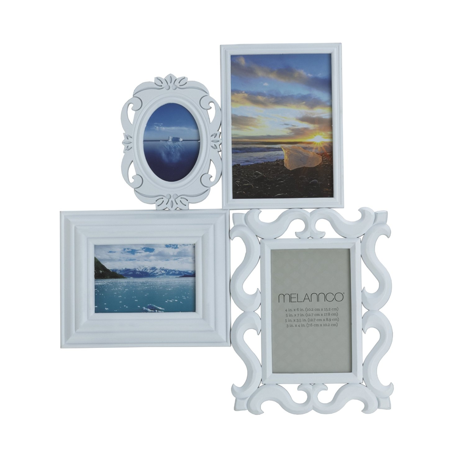 Buy Melannco 4-Opening Multi Profile Collage Frame (White) in Cheap ...