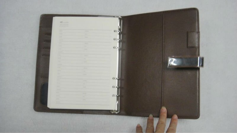 New fashion leather office notebook cover for business office