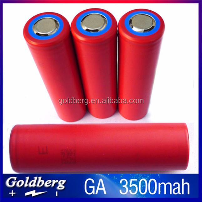 Alibaba wholesale 3500mah 18650 high capacity batteries Sanyo NCR18650GA 3.7V 18650 li ion battery cell