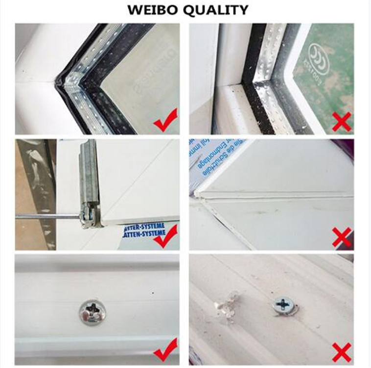 Cost-effective pvc window clear single tempered glass sliding window