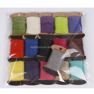 Crafts natural colored jute rope spool for sale