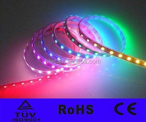 Addressable 5050 WS2812 Magic LED STRIP 60 led/m waterproof FPC dream color 12V