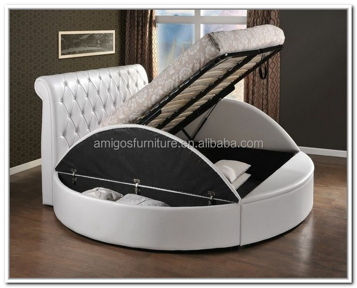 Style queen anne mobilier for Round bed designs with price