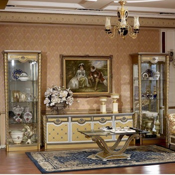 Yb016 Matching Set Living Room Display Cabinet European Antique