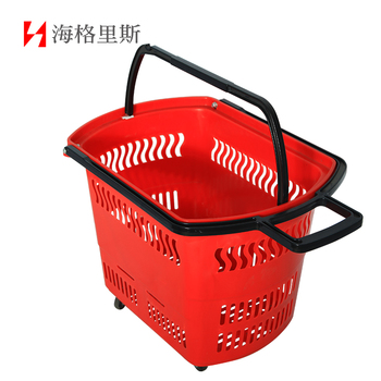 Plastic shopping cart trolley