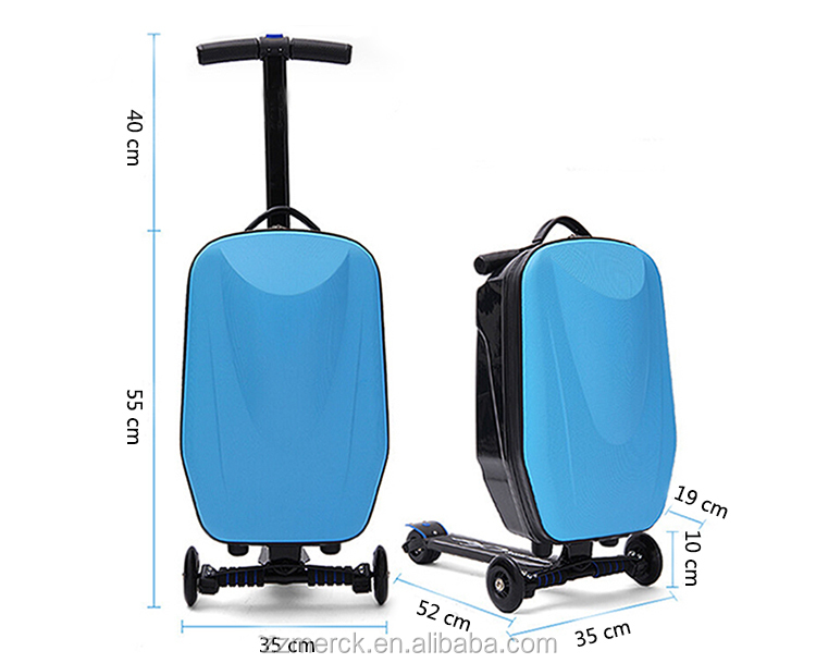Skateboard Bag Luggage With Scooter