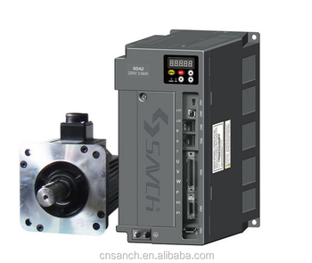 Sanch high performance similar to fuji amplifier 220v/230v 1kw ac servo motor and servo drive