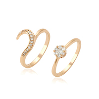 12991 xuping hot sales christmas gifts rings set , elegant 18k gold plated finger ring for women