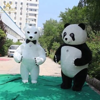 Inflatable panda costume, inflatable bear costume event inflatable mascot costume