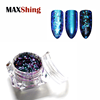 Maxshing color change chameleon flakes Nail glitter pigment makeup for nail art