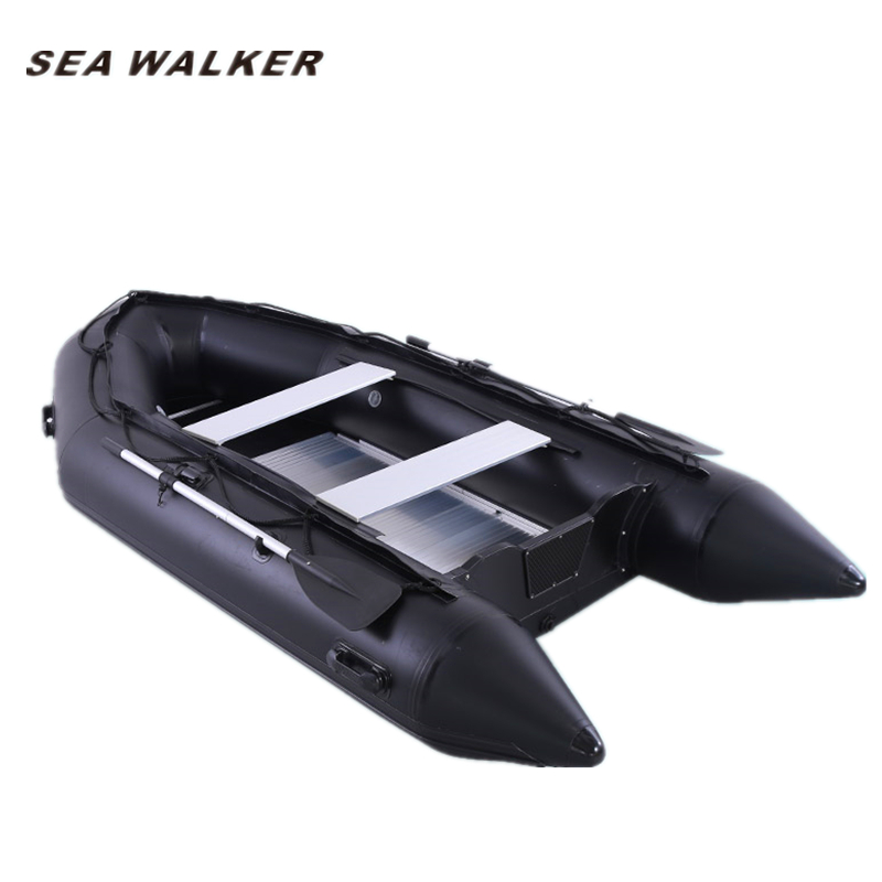 Seawalker 0.9mm PVC inflatable <strong>boat</strong> 3.3M with aluminum floor for fishing rowing and drifting