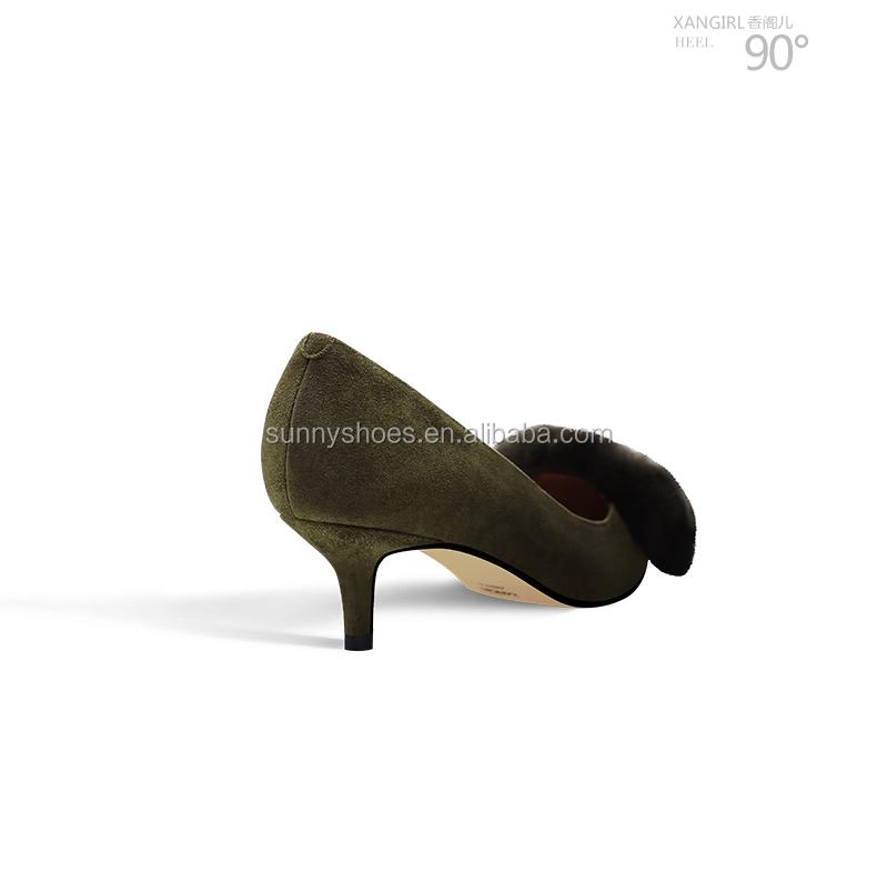 pointy medium kitten womens heels toe slip suede on kid heel qCOpZq