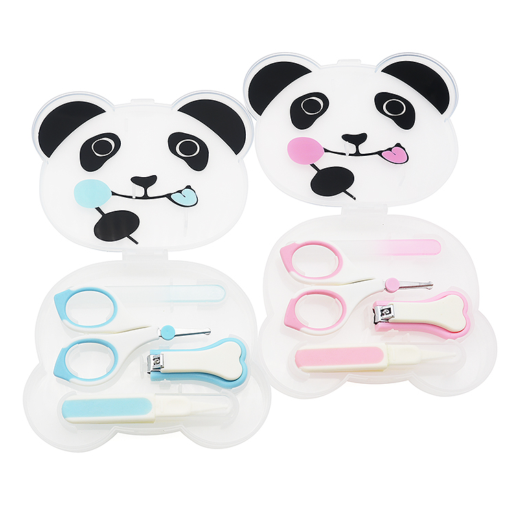 4PCS Baby Kid Cute Care Kit Tool Manicure Table  Set with Cartoon Packaging