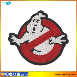 Artsky online store best offer good quality scissors cut border badge patch Ghost boy sew on embroidery