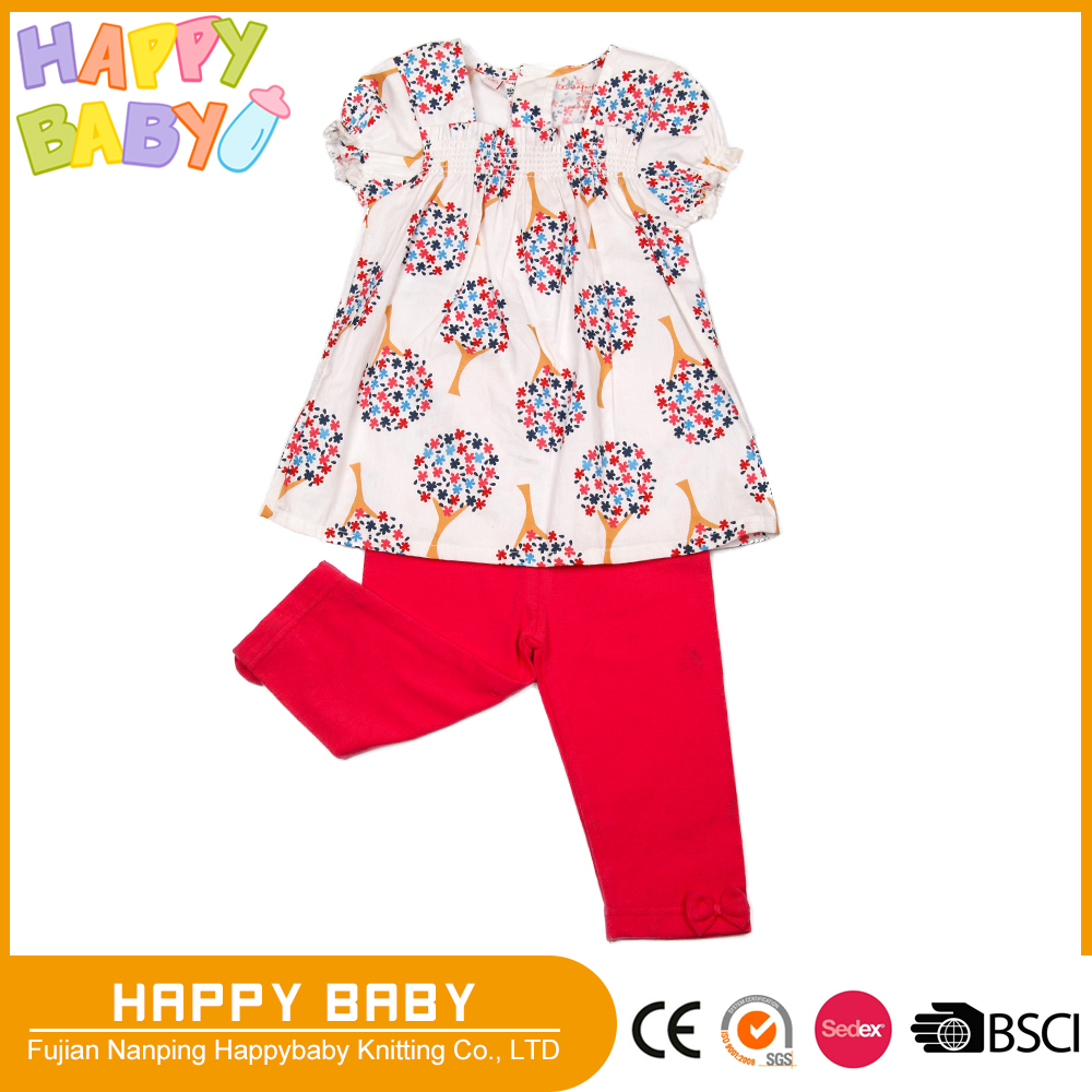 Baby Children Girl Two Pcs Outerwear Playing Picnic Clothing Set