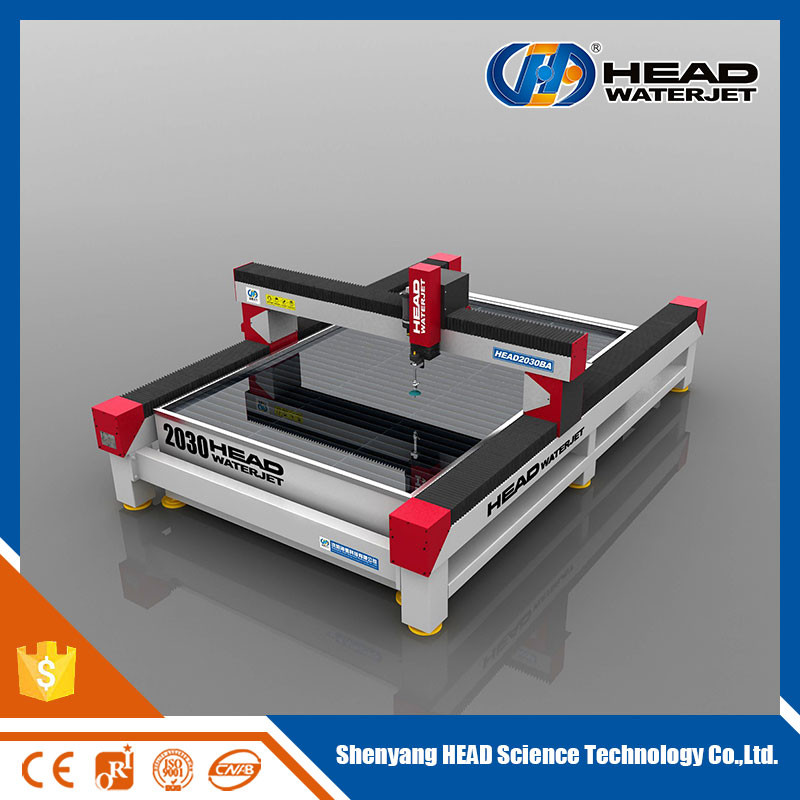 China HEAD CNC Water jet metal Cutting machine with direct drive pump