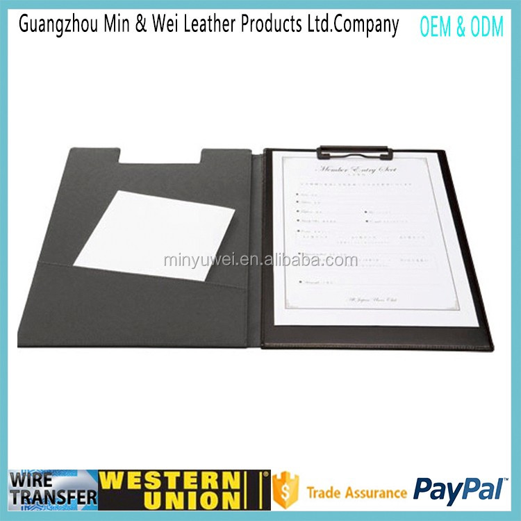 best covered clipboard Leather Clipboard Black folder clipboards