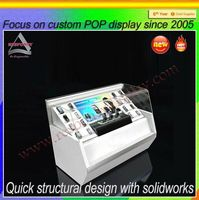 Modern store glass mobile phone display cabinet/display show case
