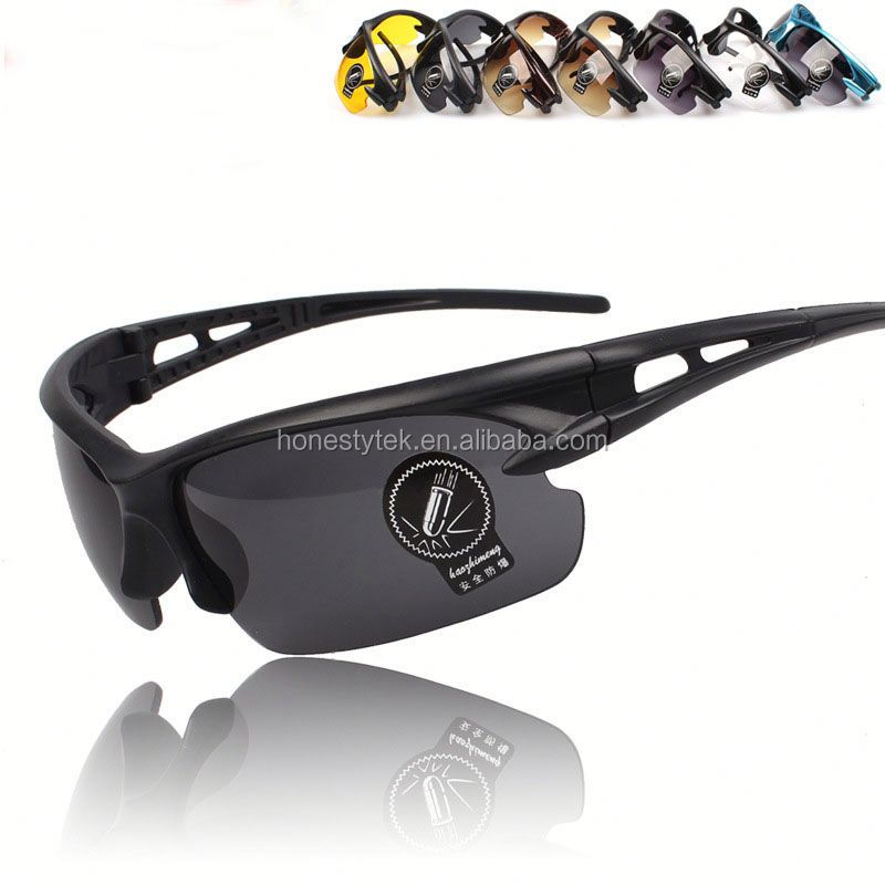 E076 Black frame riding glasses