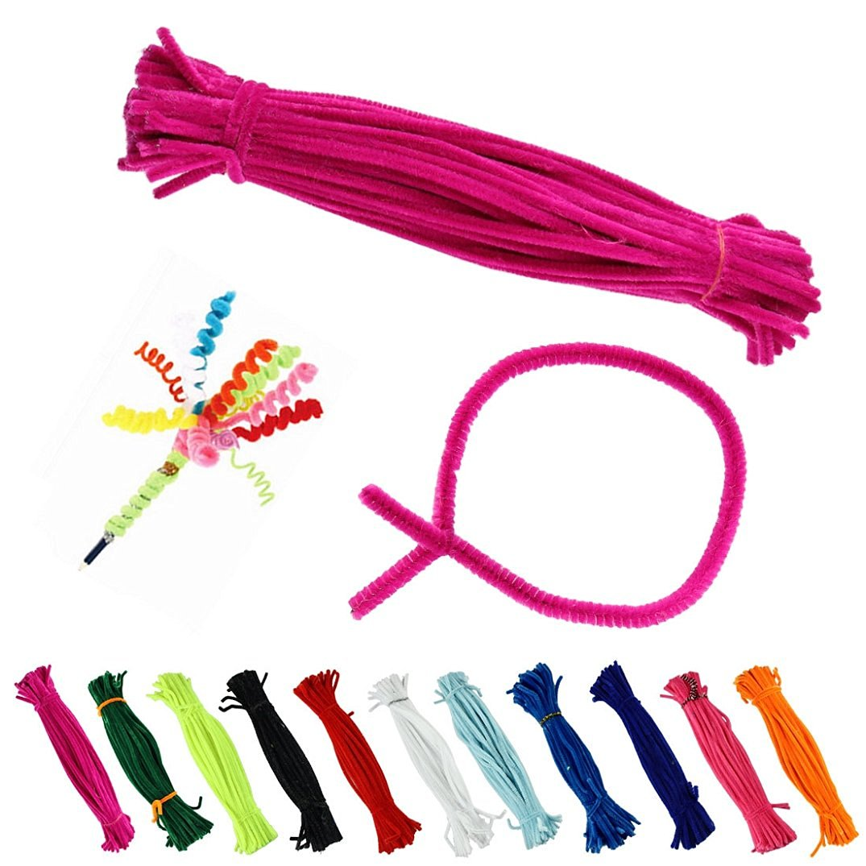 Binmer(TM)100Pcs/Set Children's Educational Toys DIY Toys Materials Plush Stick Handmade Art Toys