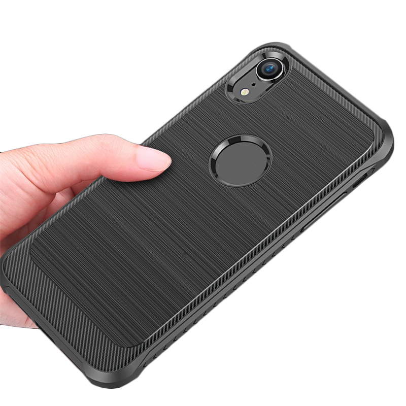 fashion carbon fiber material soft TPU cover for iphone xr cell phone case in stock