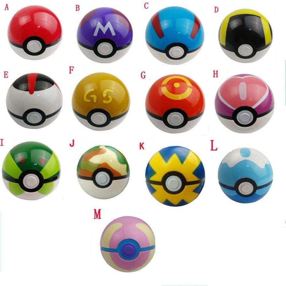 Pokemon Ball Figures ABS Pokemon PokeBall Toys Super Master Pokemon Ball Toys Pokeball Action Figures 13pcs/set
