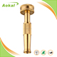 Brass hose nozzle adjustable water spray gun car washer water hose nozzle for garden
